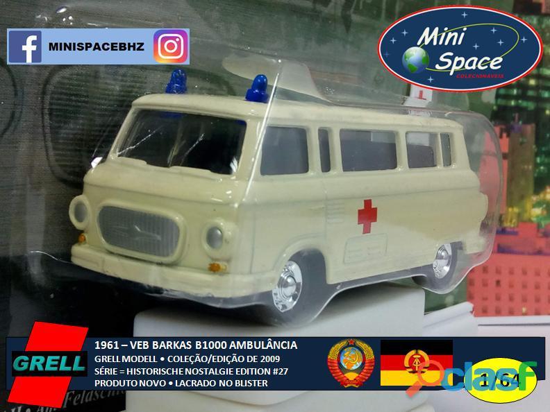 Grell Modell 1961 VEB Barkas B1000 Ambulância 1/64