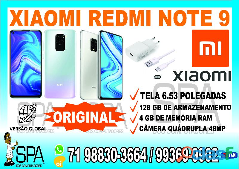 Xiaomi Redmi Note 9 128gb Versão Global em Salvador Ba (SPA DOS COMPUTADORES)