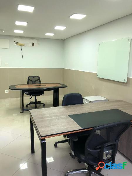 Conjunto comercial com 3 salas, 76 m2, centro, santos