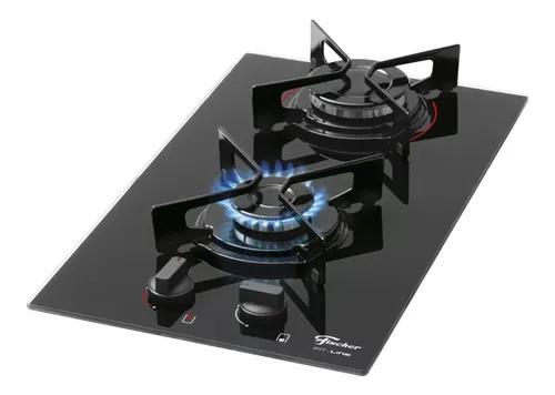 Fogão cooktop fischer 2 bocas fit line gás