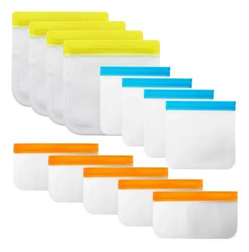Saco de armazenamento de alimentos reutilizável 13 peças v