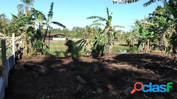 Sítio produtivo 6 hectares com fundos para rio navegável em praia de leste.