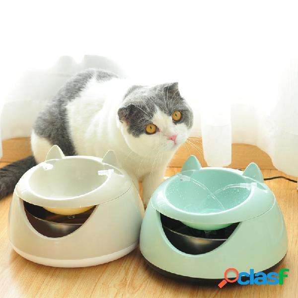 2 cores pet dog cat automático tigela de água gatinho elétrico auto alimentador de água