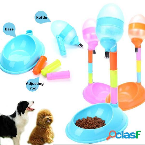 Pet dog puppy cat distribuidor automático de alimentos para água fountain stand alimentador de pratos
