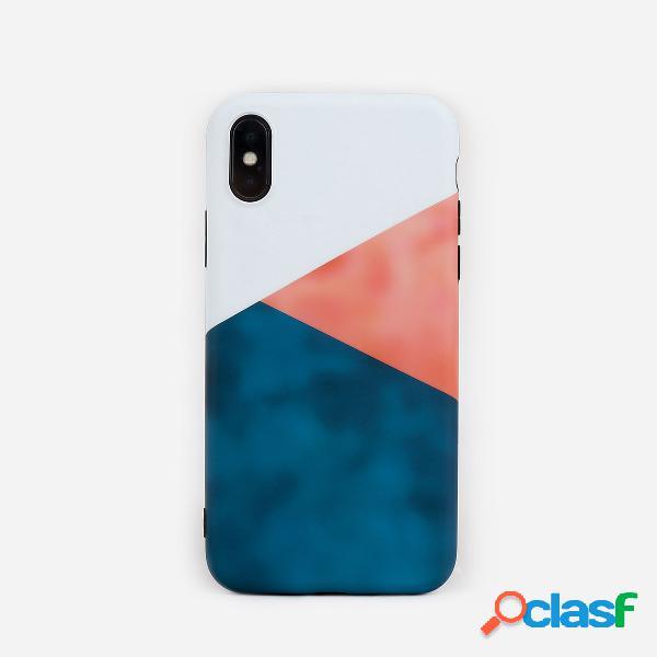 Telefone bonito unisex caso do pc do cor de mármore da mulher para o iphone
