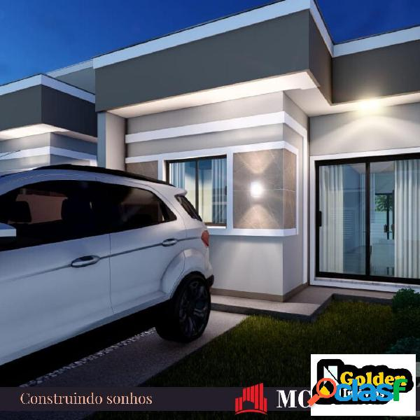 Casa de esquina 2 dormitórios no bairro joaia em tijucas sc