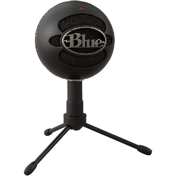 Microfone condensador usb blue snowball ice preto