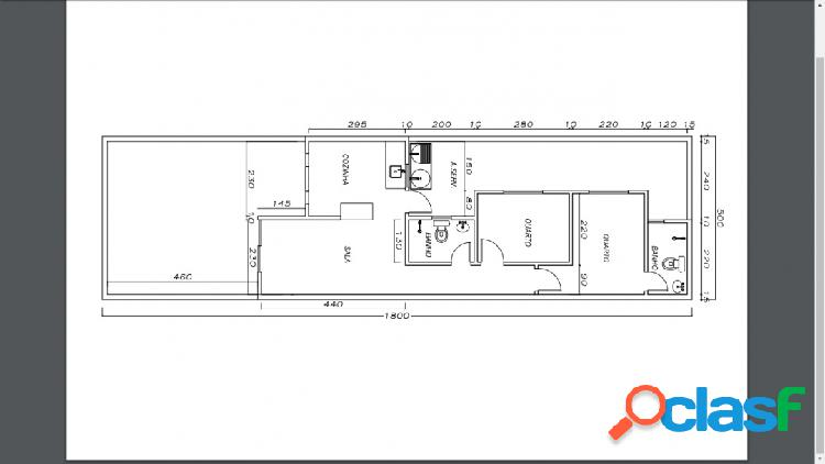 Vila nova|casa de 2/4 sendo 1 suite