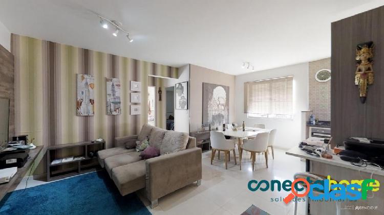 Apartamento mobiliado de 56 m², 2 dormitórios e 1 vaga na vila monumento