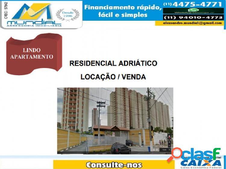 Apartamento com condominio - aluguel - santo andre - sp - jd do estadio)