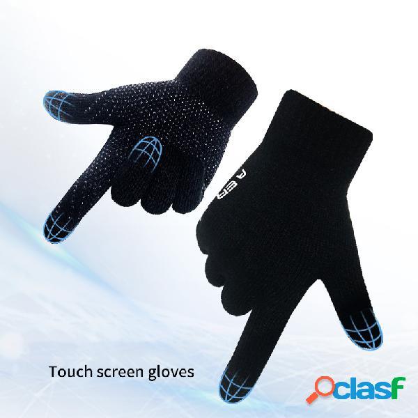 Luvas de tela de toque luvas resistentes a corte de malha quentes
