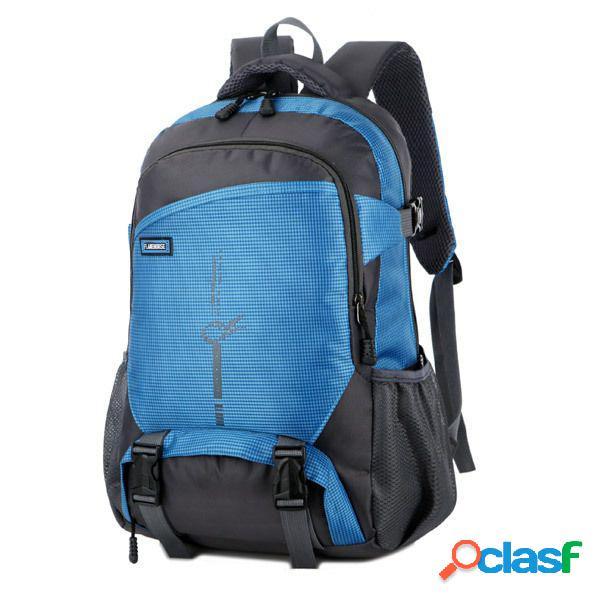 Nylon impermeável ao ar livre casual travel multi-pocket backpack