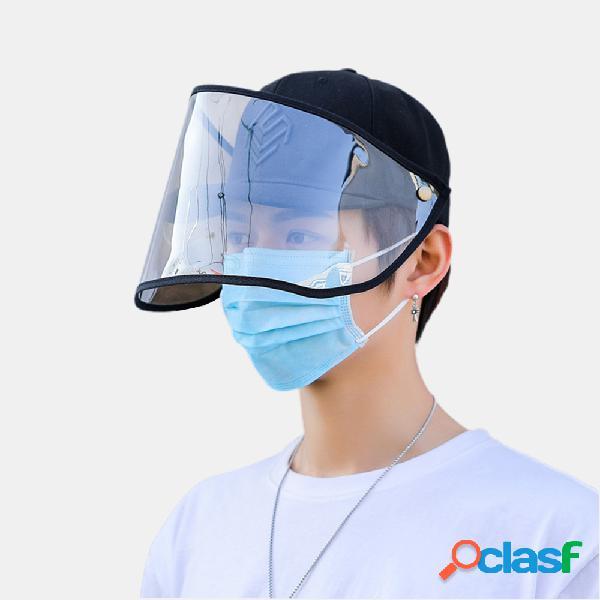 Collrown anti-fog sun chapéu palha de proteção para o rosto removível pala de sol destacável