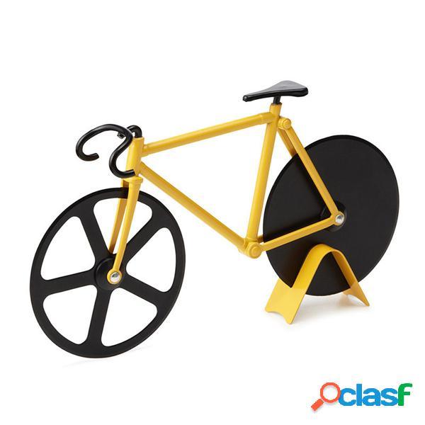 Honana cf-bw03 bicicleta pizza cortador professional aço inoxidável antiaderente bike rodada pizza slicer