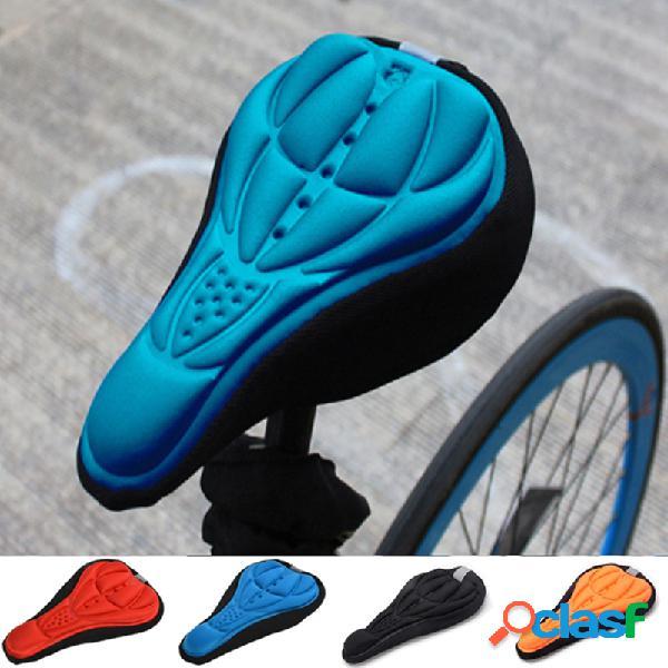 Selim de bicicleta 3d soft gel de cobertura de assento silicone almofada para ciclismo para bicicleta ultraleve