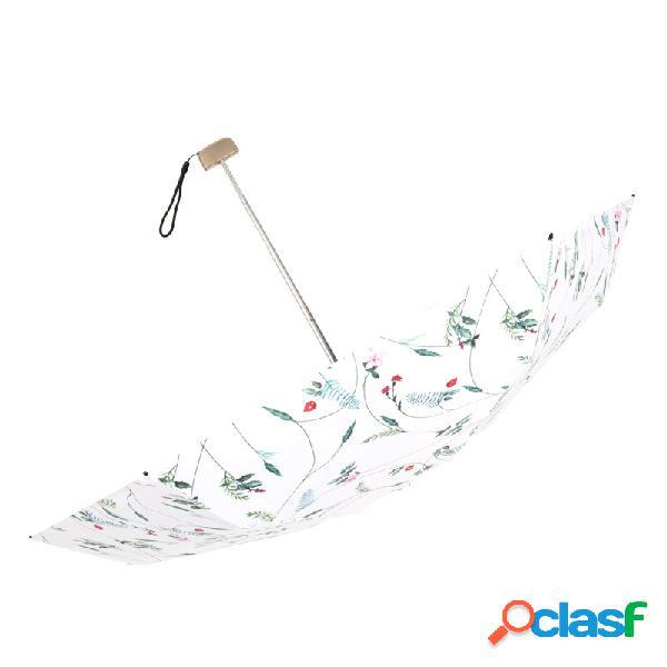 Ultraleve cinco vezes guarda-chuva de bolso mini guarda-chuva de sol guarda-chuva de flor dobrável