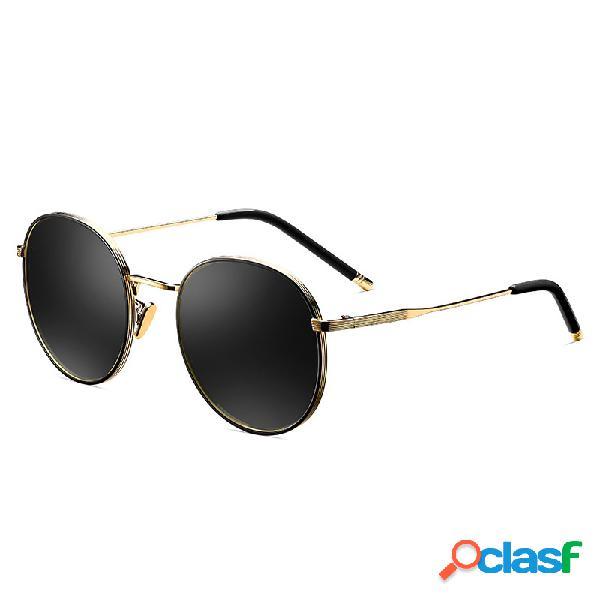Óculos polarizados clássicos vintage de tac e metal à moda de viagem