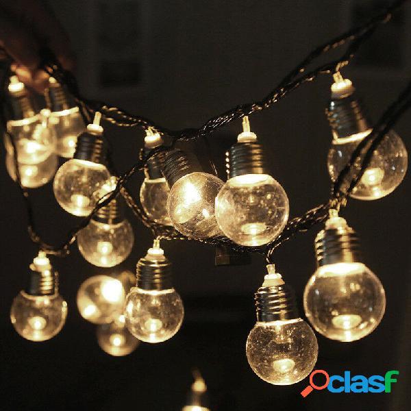 10 m 2 modos 80led bolha bola solar string string luz ao ar livre indoor garden party lâmpada de natal