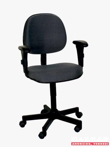 Cadeira digitador com braços base giratória diversas cores