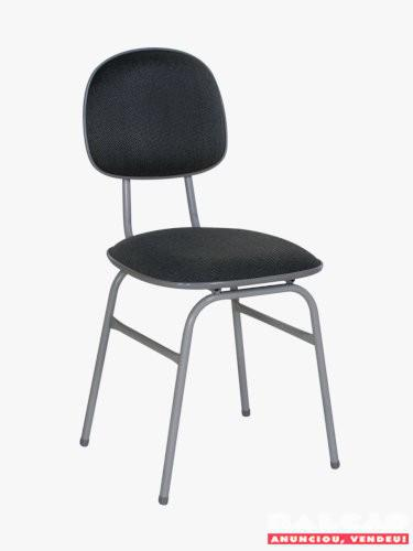 Cadeira fixa com assento em espuma laminada diversas cores