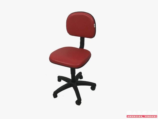 Cadeira secretária giratória base a gás diversas cores