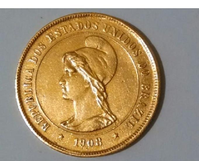 Compro moedas de ouro usadas antes de 1921,pago até r$1.200