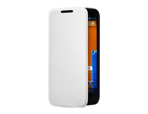 Capa Para Celular Motorola Flip Shell Moto G, Branca