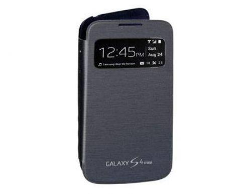 Capa para celular samsung s view cover galaxy s4 mini, preta