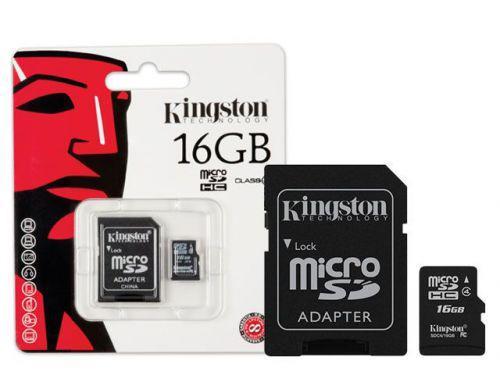 Cartao de Memoria Classe 4 Kingston SDC4//16GB Micro SDHC