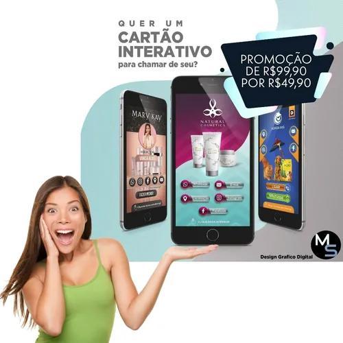 Cartões interativos digital