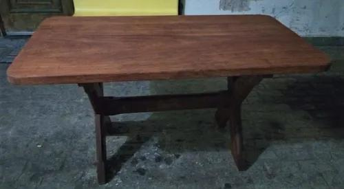 Conjunto mesa sala de jantar madeira maciça