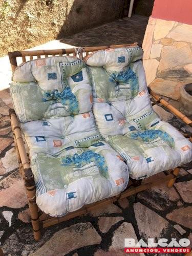 Conjunto de cadeiras de varanda (bambu)