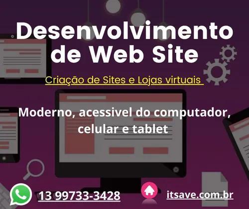 Criação de site profissional e responsivo para seu