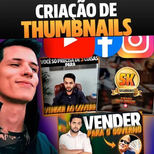 Criação thumbnail profissional youtube, igtv, nutella e