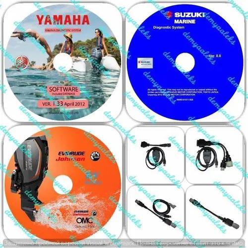 Kit diagnóstico yamaha/ jet/ wave runner/ suzuky,brp