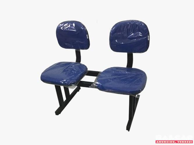 Longarina 2 lugares com assento em espuma laminada