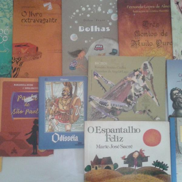 Lote com 12 livros infantis diversos - clássicos