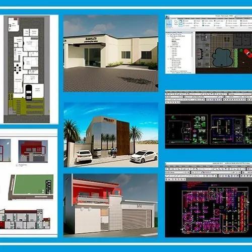 Pacote de projetos prontos de construções