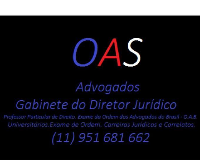 Professor particular de direito oab fgv
