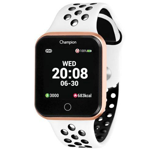 Smartwatch champion ch50006w dourado pulseira branca
