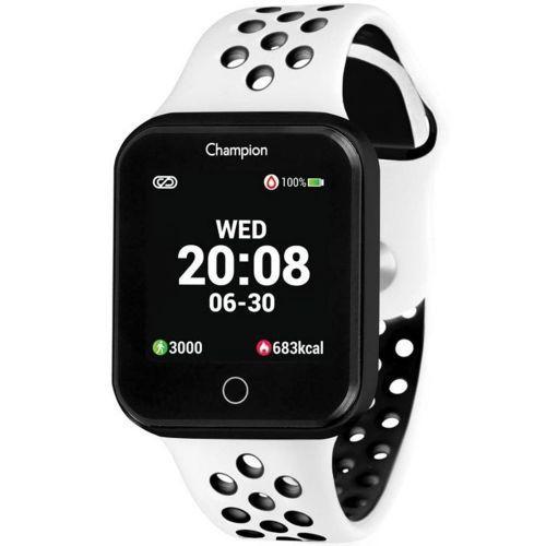 Smartwatch champion ch5006k preto pulseira branca