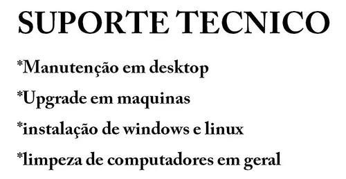 Suporte tecnico de computadores desktop