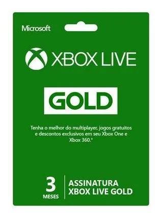 Xbox live gold 3 meses 25 digitos envio imediato x360/one