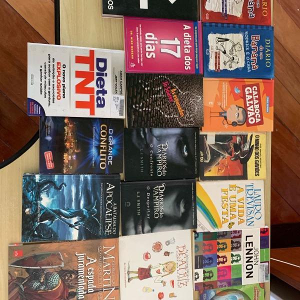 Combo com 18 livros