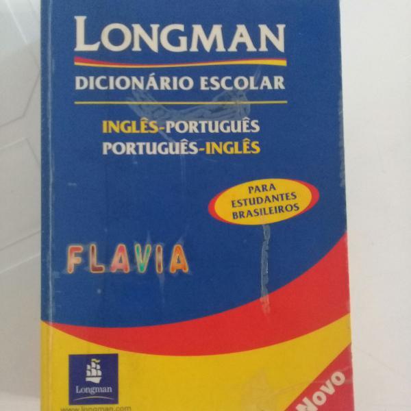 Dicionário escolar longman inglês português e portugês
