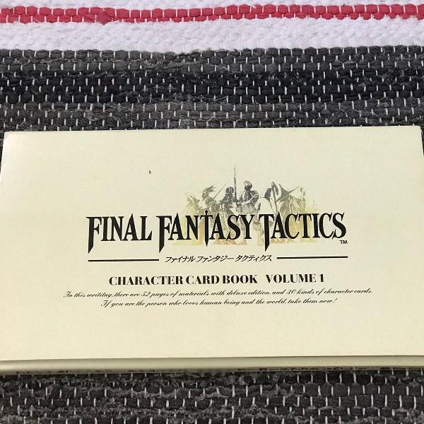 Final fantasy tatics character card book volume 1