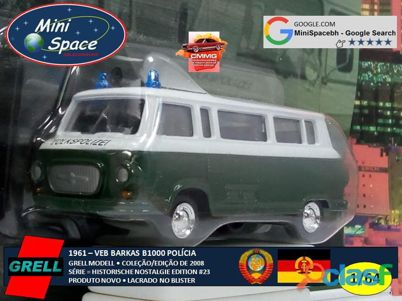 Grell Modell 1961 VEB Barkas B1000 Polícia 1/64