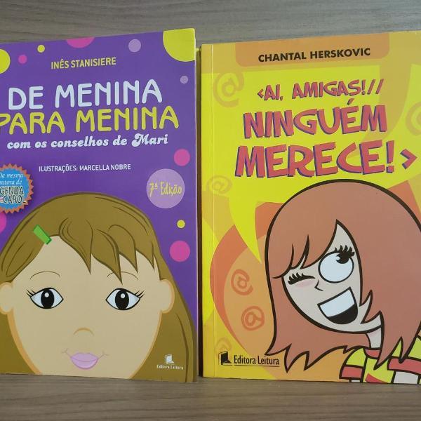 """Kit 2 livros - """"de menina para menina"""" e """"ai, amigas!"""