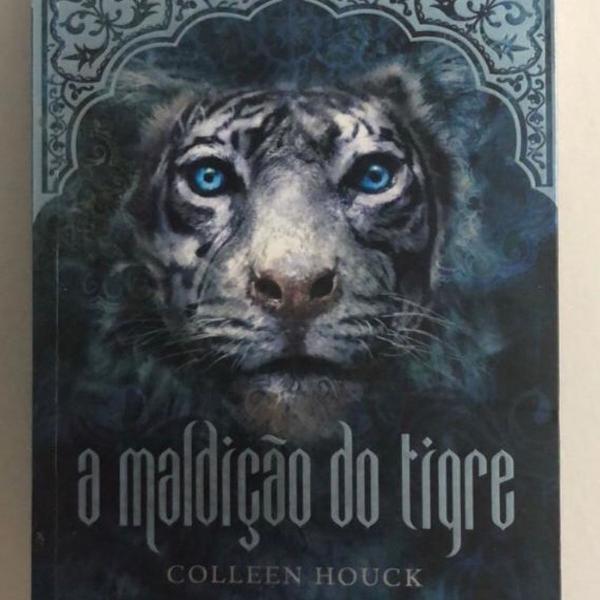 Livro a maldição do tigre, autografado.