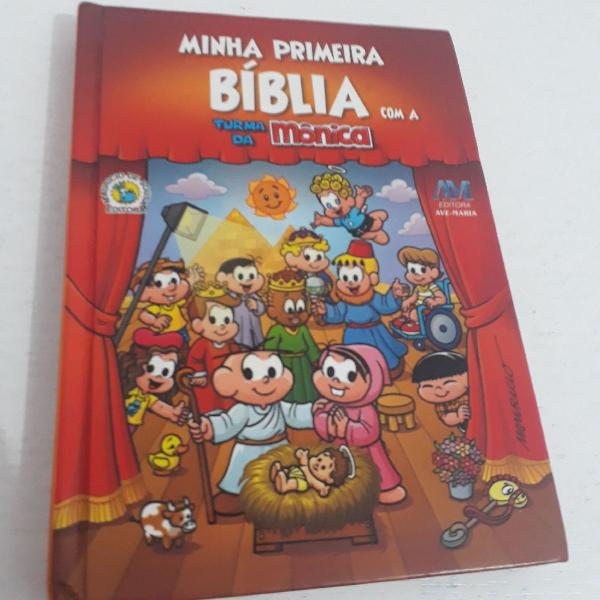 Minha primeira bíblia livro turma monica 10x15cm com 86
